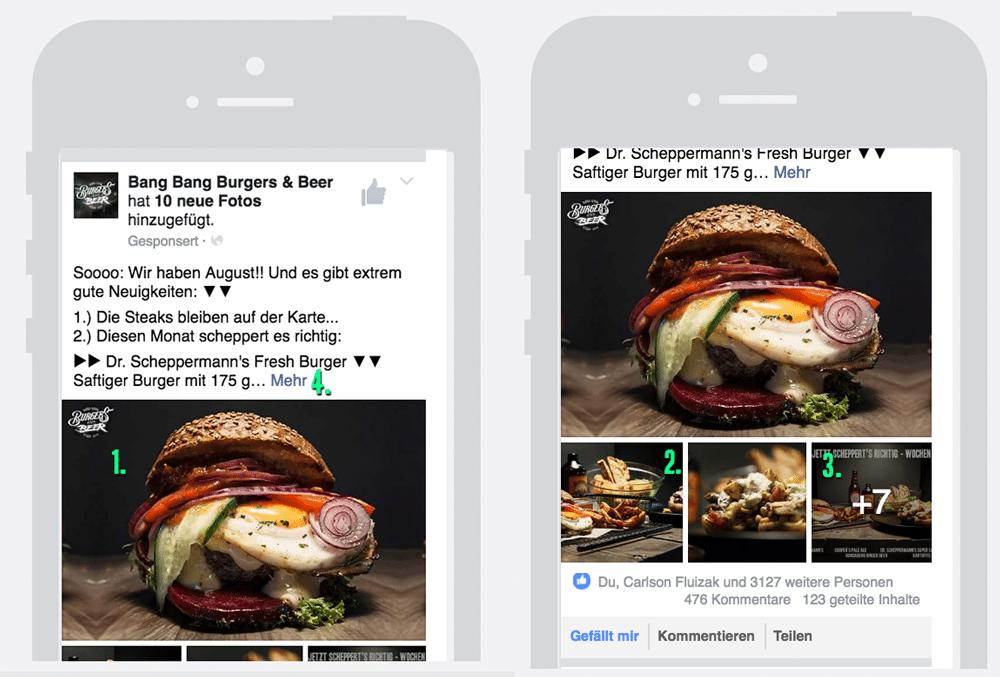 Facebook Anzeigen Preview auf Mobile