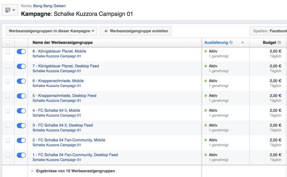 Facebook-Kampagne